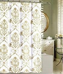Salmon Colored Shower Curtain Amazon Com Tahari Fabric Shower Curtain Salmon Orange And Beige