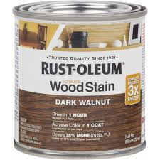 rust oleum ultimate wood stain half pint dark walnut walmart com