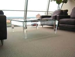 Square Acrylic Coffee Table Acrylic Coffee Tables Showcase For Your Interior Design