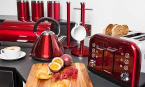 Morphy Richards Accent Toaster Red Morphy Richards Accents Kettle And Toaster Set Cool Diamond