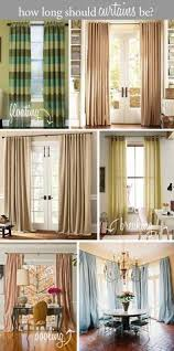 How Long Should Curtains Be | design tip how long should curtains be floating above the floor