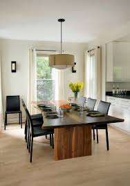 Light Dining Room by Raw Natural Goodness 50 Live Edge Dining Tables That Wow