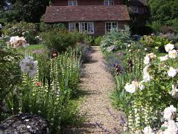 cottage garden ideas with country style cottage and natural path