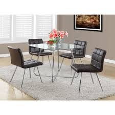 metal and leather dining chairs chrome metal 8mm tempered glass 40
