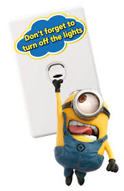 minions light switch wall stickers totally movable