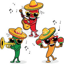 cartoon cinco de mayo cartoon mariachi peppers vector art thinkstock
