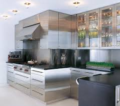 wood countertops stainless steel kitchen cabinets lighting
