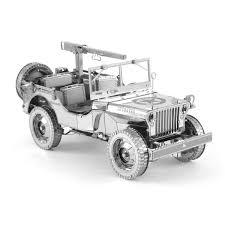 vintage willys jeep metal earth diy 3d metal model kits metal earth iconx willys