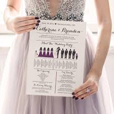 party silhouette silhouette wedding program wedding party silhouette program
