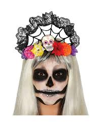 day of the dead headband day of the dead headband with lace día de los muertos hair