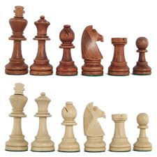 tournament size traditional staunton chess pieces