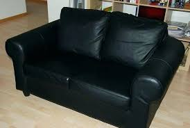 ikea black leather sofa ikea black leather couch vibehub co