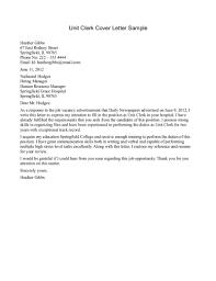 cover letter cover letter for clerk application cover letter for