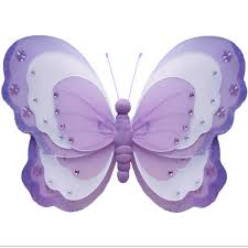 Diy Butterfly Decorations by Butterfly Decoration Purple White Garden Bathroom Home Fake Nylon