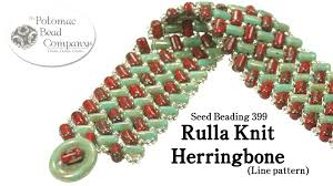 beaded bracelet tutorials youtube images Make a rulla knit herringbone bracelet line pattern jpg