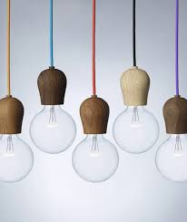 Scandinavian Light Fixtures by Bright Sprout Is A Wooden Fixture Designed To Hide The Light Bulb