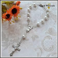baby rosary bracelet aliexpress buy 50pcs lot religious blue glass pearl rosary
