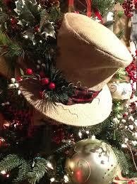 raz tree burlap top hat trendy tree decor