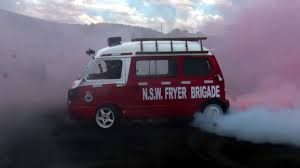 subaru van watch this 1500 pound australian subaru microvan totally fry its tires