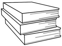 Free Stack Of Books Clipart Black And White Image 2094 Stack Of Books Coloring Page