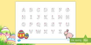 easter uppercase alphabet tracing activity sheet australia eylf