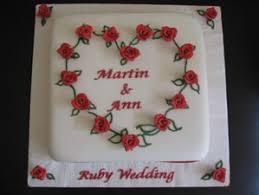 ruby wedding cakes surrey birthday anniversary cakes cakes page iced
