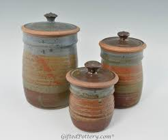pottery kitchen canister sets canister set handmade pottery canisters 0513001 kitchen stuff