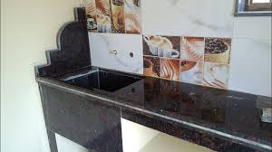 Black Granite Kitchen Platform Design