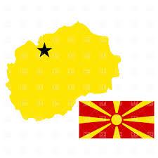 Flag Of Macedonia Macedonia Map And Flag Royalty Free Vector Clip Art Image 895
