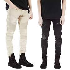 Skinny Jeans With Holes Fashion Cool Represent Cothing Designer Pants Destroyed Mens Slim