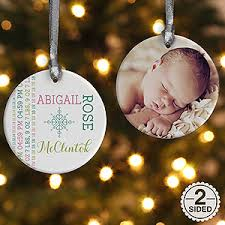 personalized new baby photo ornament baby 2