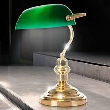 antique green bankers l led bankers l desk l table l reading light antique green