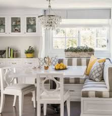 corner kitchen table with storage bench white storage bench with elegant striped cushions and perfect corner