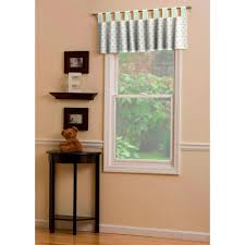 french gray and mint quatrefoil window valance tab top carousel