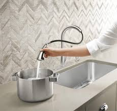 decorating single handle kohler kitchen faucets with sprayer for