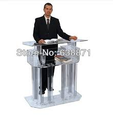 podium style reception desk crystal fashion promotion the reception desk the speakers podium