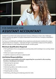 Assistant Accountant Job Description Assistant Accountant Jobs In Sri Lanka