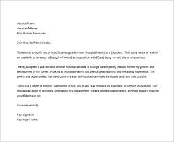 8 nursing resignation letter templates free sample example