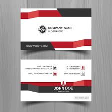 Flat Design Business Card Business Card With Stripes In Flat Design Vector Free Download