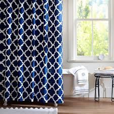 popular of blue and white shower curtains inspiration with