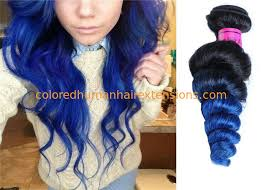 blue hair extensions 10 32 wave weaves hair extensions black to