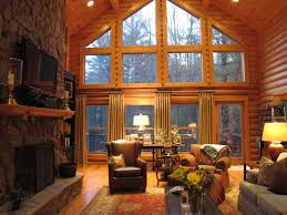 Interior Of Log Homes by Log Cabin Living Rooms Home Planning Ideas 2017
