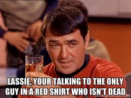 Red Shirt Star Trek Meme - star trek red shirt meme survivor i dig nerds pinterest