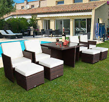 Garden Sofa Dining Set Outsunny Outdoor 9pc Rattan Wicker Sofa Dining Table Sectional