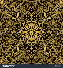 rich gold ornaments on black background stock vector 301529135