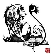 the lion and the lamb tattoo design in 2017 real photo pictures