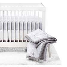 Gray And White Crib Bedding Crib Bedding Set Two By Two 4pc Cloud Island Gray Target