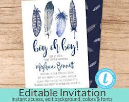 baby boy shower invites baby shower invite etsy
