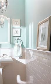 subway tile half wall blue inspiration for the bathroom the