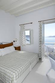 family room mykonos view